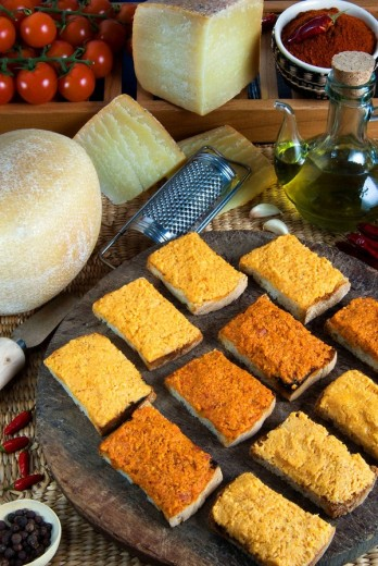 Almogrote starters, Canary Island, Canary Island Cooking : Stock Photo