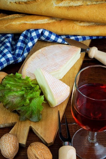 Munster french cheese,  french cuisine, france, europe, : Stock Photo