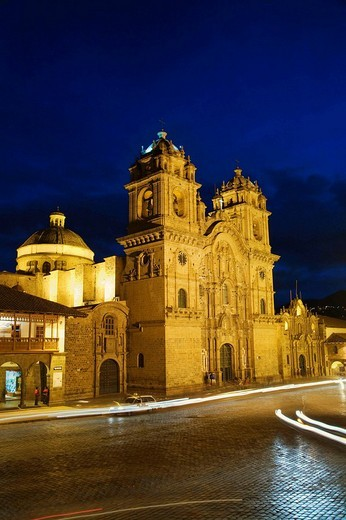 Chuch of the Society of Jesus in Plaza de Armas, Cusco, Peru : Stock Photo
