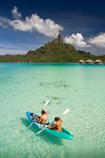 Mount Pahia, Bora Bora island, Society Islands, French Polynesia (May 2009) : Stock Photo
