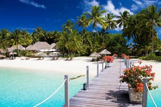 Matira beach, Bora Bora island, Society Islands, French Polynesia (May 2009) : Stock Photo