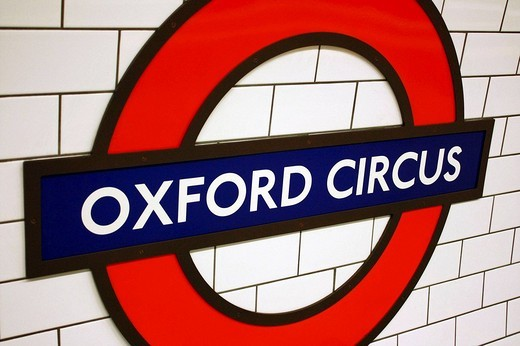 Stock Photo: 1566-536639 Oxford Circus subway station. London. England.