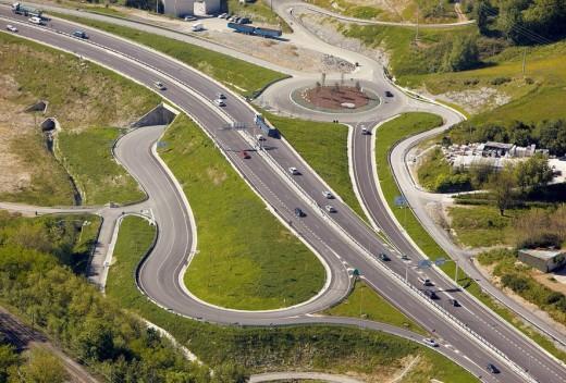 N-I road, Irun, Guipuzcoa, Basque Country, Spain : Stock Photo