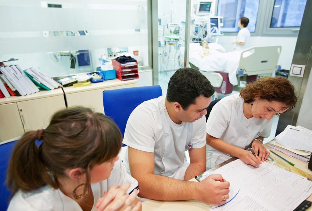 ICU (Intensive Care Unit), Hospital Policlinica Gipuzkoa, San Sebastian, Donostia, Euskadi, Spain : Stock Photo