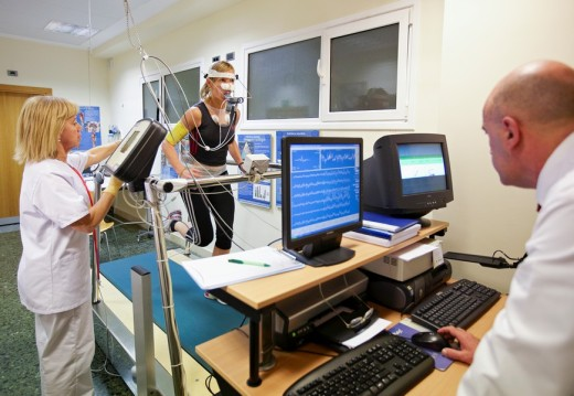 Cardiac stress test, sports medicine. Hospital Policlinica Gipuzkoa, San Sebastian, Donostia, Euskadi, Spain : Stock Photo