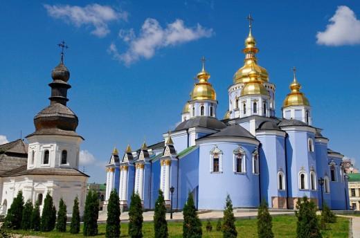 Stock Photo: 1566-539561 St. Michael´s Golden-Domed Monastery, Kiev, Ukraine