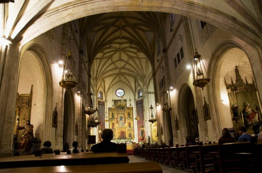 An interior view of a Cathedral. : Stock Photo