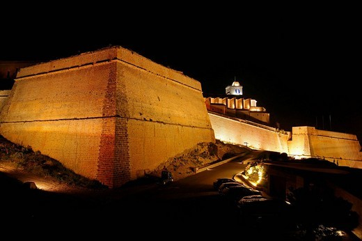 Bastion of Sant Bernat, Dalt Vila fortified town (16th century), Ibiza. Balearic Islands, Spain : Stock Photo