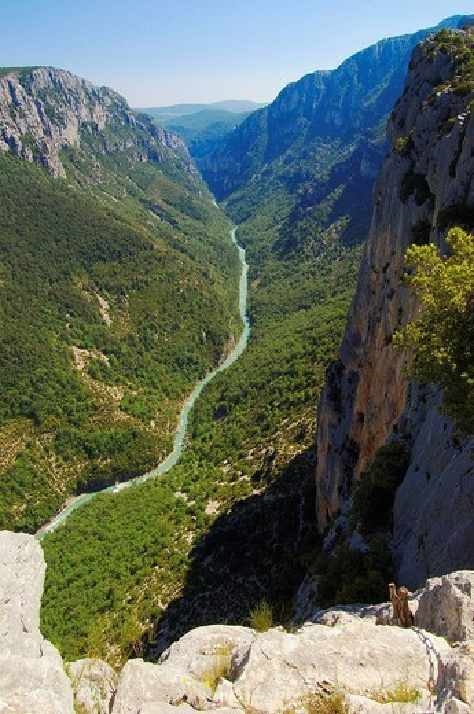 Gorges du Verdon, Verdon River canyon, Verdon Regional Natural Park, Provence-Alpes-Côte d´Azur, France : Stock Photo