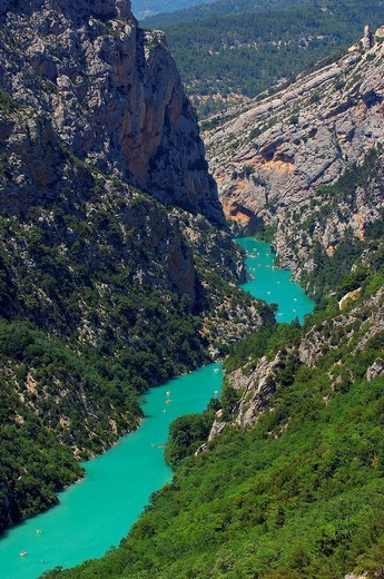 Gorges du Verdon, Verdon River canyon, Verdon Regional Natural Park, Provence-Alpes-Côte d´Azur, France : Stock Photo