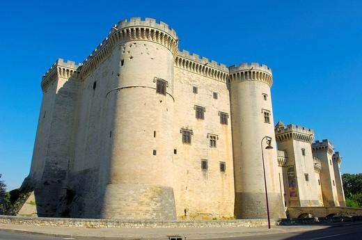 King René´s Castle, Tarascon. Bouches-du-Rhône, Provence-Alpes-Côte d´Azur, France : Stock Photo