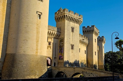 Stock Photo: 1566-542626 King René´s Castle, Tarascon. Bouches-du-Rhône, Provence-Alpes-Côte d´Azur, France
