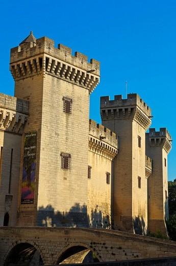 Stock Photo: 1566-542627 King René´s Castle, Tarascon. Bouches-du-Rhône, Provence-Alpes-Côte d´Azur, France