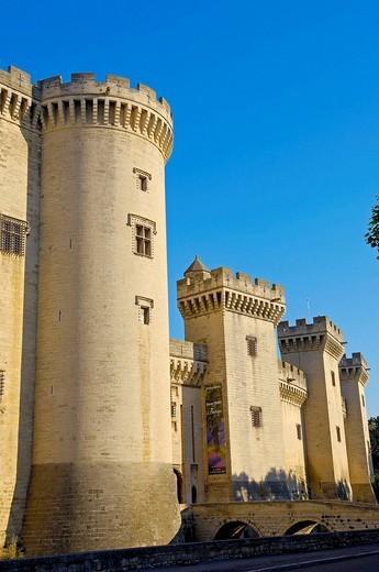 Stock Photo: 1566-542632 King René´s Castle, Tarascon. Bouches-du-Rhône, Provence-Alpes-Côte d´Azur, France