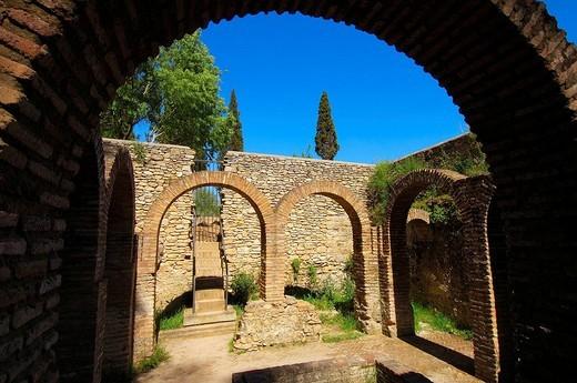 Moorish baths (13th century), Ronda. Malaga province, Andalusia, Spain : Stock Photo