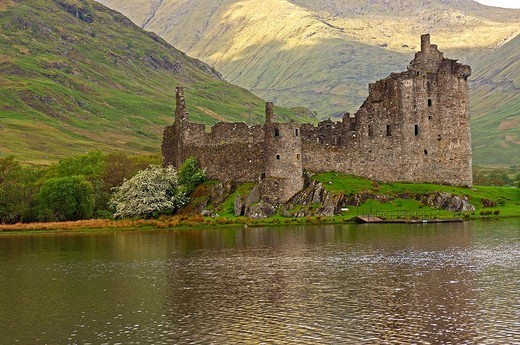 Stock Photo: 1566-542660 Kilchurn castle, Loch Awe. Argyll & Bute, Highlands, Scotland, UK