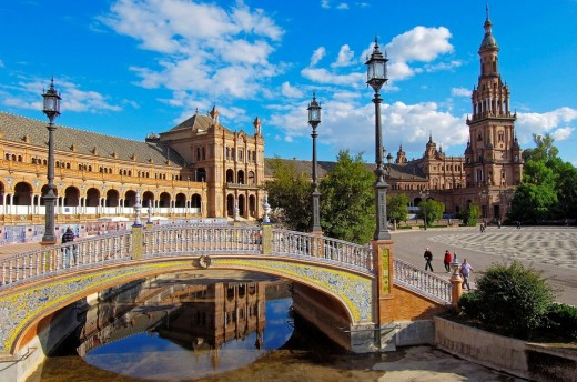 Stock Photo: 1566-542673 Plaza de España in Maria Luisa Park, Seville. Andalusia, Spain