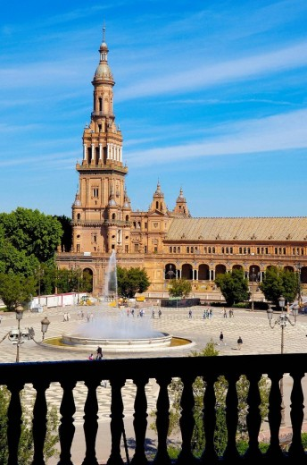 Stock Photo: 1566-542674 Plaza de España in Maria Luisa Park, Seville. Andalusia, Spain