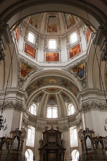 Salzburger Dom (cathedral), Salzburg. Austria : Stock Photo