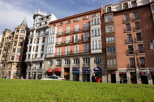 Stock Photo: 1566-543837 La Ribera street, old town, Bilbao. Vizcaya, Basque Country, Spain