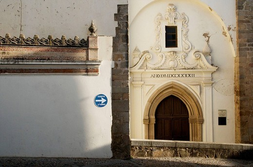 Church of San Miguel, Jerez de los Caballeros. Badajoz province, Extremadura, Spain : Stock Photo