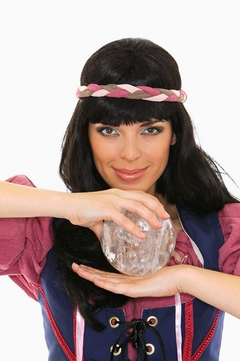 fortuneteller with crystal ball : Stock Photo