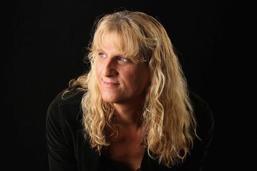 Portrait of male to female transgender woman : Stock Photo