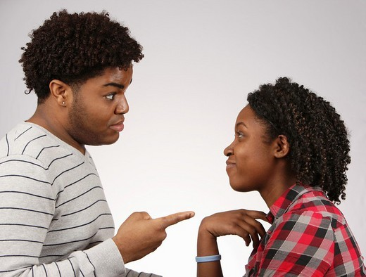 Young African-American couple facing off  © Katharine Andriotis : Stock Photo