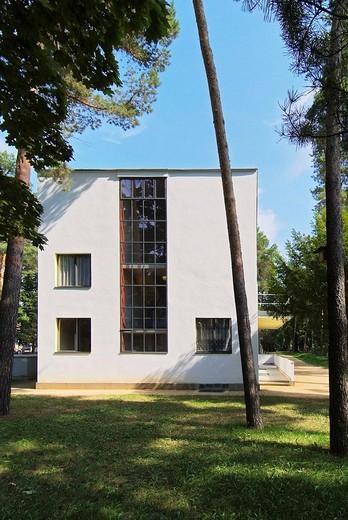 Bauhaus, masterhouses, house Klee, Dessau, Saxonia-Anhalt, Germany, Europe : Stock Photo