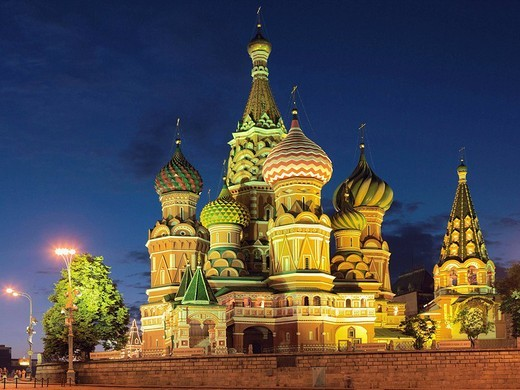 Stock Photo: 1566-551404 Cathedral of the Intercession, or Cathedral of St. Basil the Blessed, Red Square, Moscow, Russia