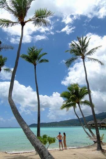 Le Tahaa resort, Tahaa island, Polynesia : Stock Photo
