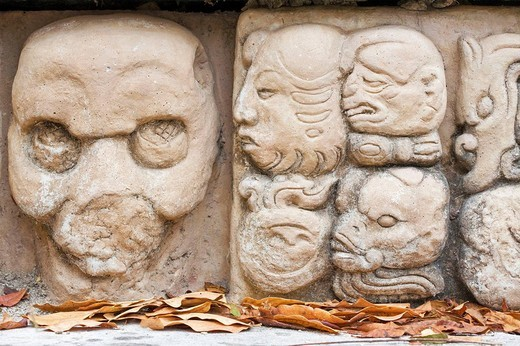 Los Jaguares court, East Court, Mayan ruins of Copan, Copan Ruinas, Honduras : Stock Photo