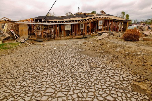 Hurrican Katrina damage. New Orleans, La.. The Ninth Ward : Stock Photo