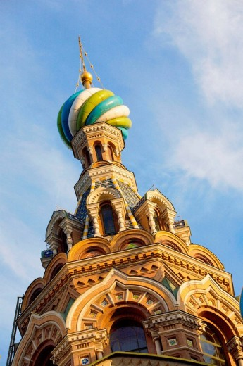 Russia. St Petersburg. The Cathedral of the Resurrection (Church of the Savior on Blood) : Stock Photo