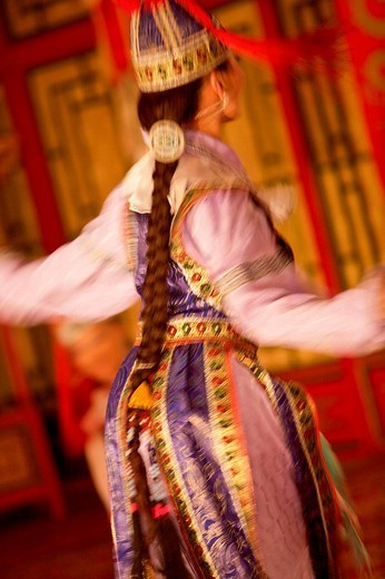 Mongolia, Ulaan Baatar. The Tumen Ekh Folk and Dance Group : Stock Photo
