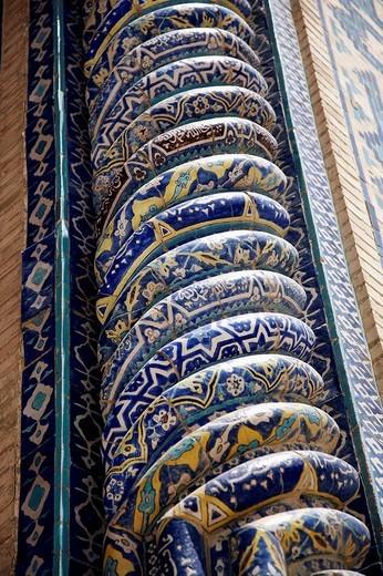Stock Photo: 1566-553192 Tilla Kari Madrasah in the Registan, Samarkand, Uzbekistan