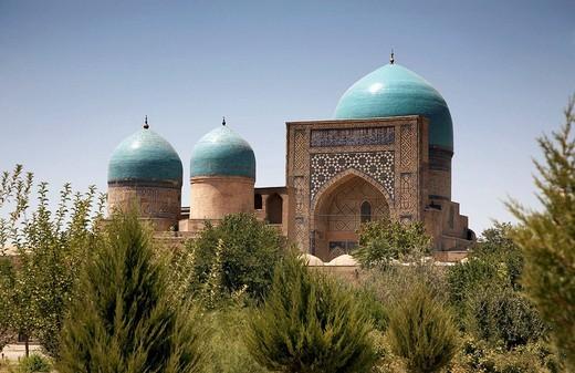 Kok Gumbaz mosque, Shahr-e Sabz, Uzbekistan : Stock Photo