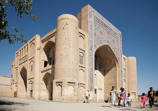 Nadid Divan-Beghi madrasah, Bukhara, Uzbekistan : Stock Photo