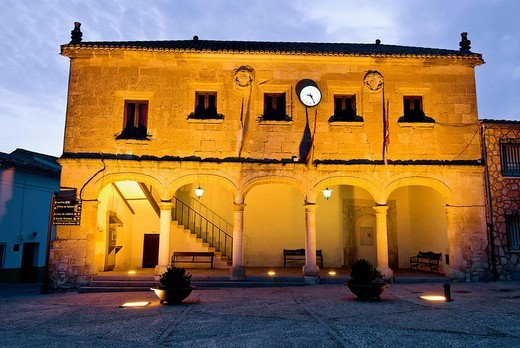 Stock Photo: 1566-554308 Town Hall, Alarcon. Cuenca province, Castilla-La Mancha, Spain