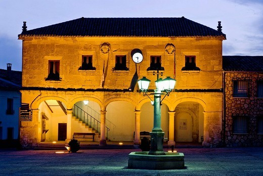 Town Hall, Alarcon. Cuenca province, Castilla-La Mancha, Spain : Stock Photo