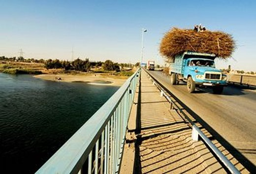 Stock Photo: 1566-556541 Bridge over Euphrates river, Ar-Raqqah, Syria