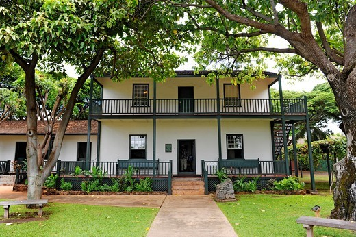 Stock Photo: 1566-565642 Historic Baldwin Home Museum Lahaina Maui Hawaii Pacific Ocean