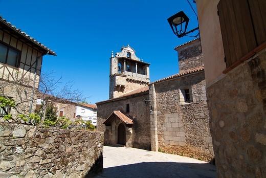 San Martín de Castañar Salamanca Castilla y León Spain Europe : Stock Photo