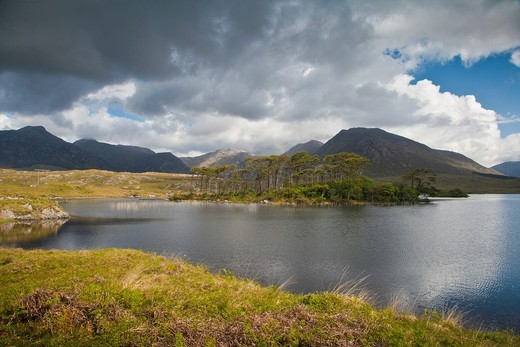 Derryclare Lough and Benna Beola in County Galway, Ireland, Europe : Stock Photo