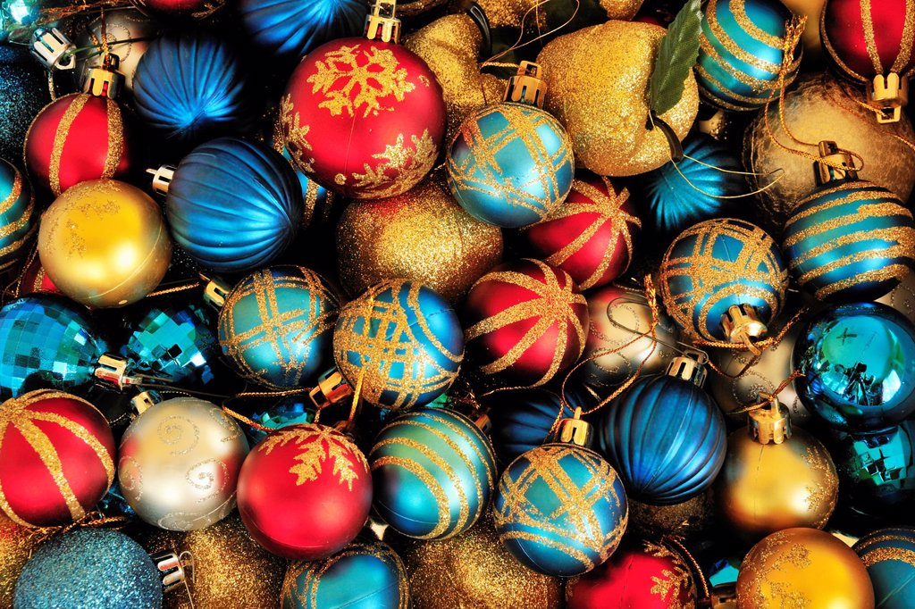 Stock Photo: 1566-567283 Christmas tree decorations