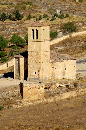 Church of the Vera Cruz near the city of Segovia  Segovia Spain : Stock Photo