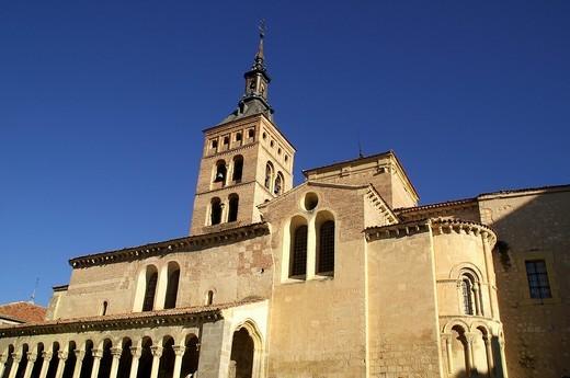 Church of St  Martin in the historic city of Segovia  Segovia Spain : Stock Photo