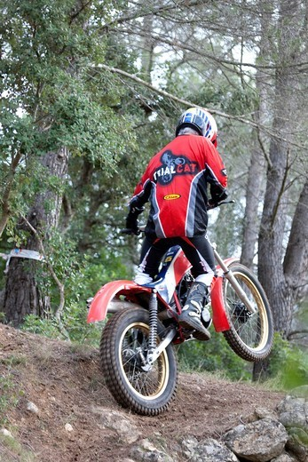 Stock Photo: 1566-571517 Classic Trial Biking