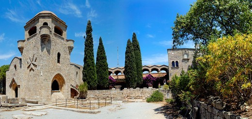 Stock Photo: 1566-571783 The Filerimos Monastery Island of Rhodes Greece