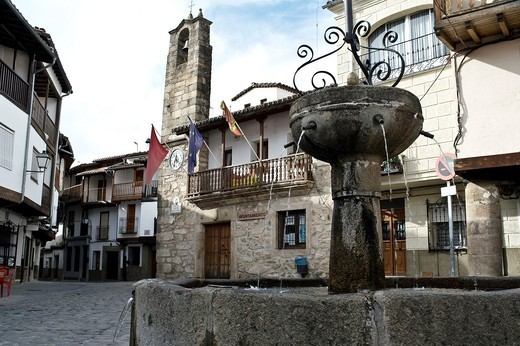 Stock Photo: 1566-573484 Town Hall Square in the village of La Vera, Spain